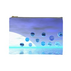 Moonlight Wonder, Abstract Journey To The Unknown Cosmetic Bag (large) by DianeClancy