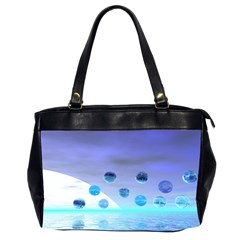 Moonlight Wonder, Abstract Journey To The Unknown Oversize Office Handbag (two Sides)