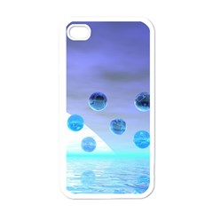 Moonlight Wonder, Abstract Journey To The Unknown Apple Iphone 4 Case (white) by DianeClancy
