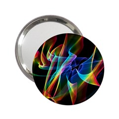 Aurora Ribbons, Abstract Rainbow Veils  Handbag Mirror (2 25 ) by DianeClancy