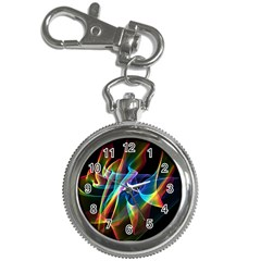 Aurora Ribbons, Abstract Rainbow Veils  Key Chain Watch by DianeClancy