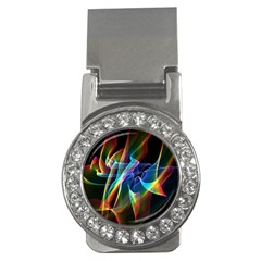 Aurora Ribbons, Abstract Rainbow Veils  Money Clip (cz) by DianeClancy