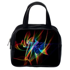 Aurora Ribbons, Abstract Rainbow Veils  Classic Handbag (one Side) by DianeClancy