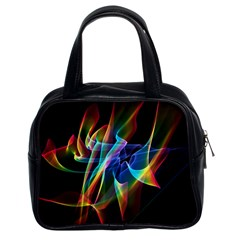 Aurora Ribbons, Abstract Rainbow Veils  Classic Handbag (two Sides) by DianeClancy