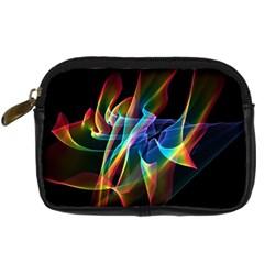 Aurora Ribbons, Abstract Rainbow Veils  Digital Camera Leather Case by DianeClancy