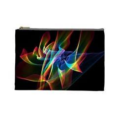 Aurora Ribbons, Abstract Rainbow Veils  Cosmetic Bag (large) by DianeClancy
