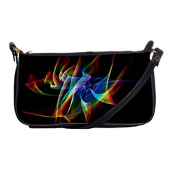 Aurora Ribbons, Abstract Rainbow Veils  Evening Bag by DianeClancy