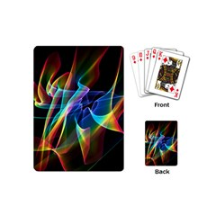 Aurora Ribbons, Abstract Rainbow Veils  Playing Cards (mini) by DianeClancy