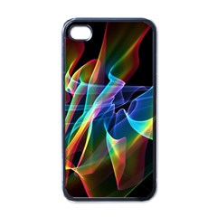 Aurora Ribbons, Abstract Rainbow Veils  Apple Iphone 4 Case (black) by DianeClancy