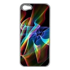 Aurora Ribbons, Abstract Rainbow Veils  Apple Iphone 5 Case (silver) by DianeClancy