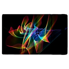 Aurora Ribbons, Abstract Rainbow Veils  Apple Ipad 3/4 Flip Case by DianeClancy