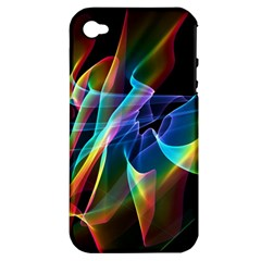 Aurora Ribbons, Abstract Rainbow Veils  Apple Iphone 4/4s Hardshell Case (pc+silicone) by DianeClancy