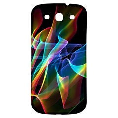 Aurora Ribbons, Abstract Rainbow Veils  Samsung Galaxy S3 S Iii Classic Hardshell Back Case by DianeClancy