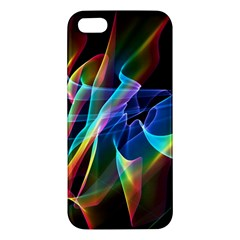 Aurora Ribbons, Abstract Rainbow Veils  Apple Iphone 5 Premium Hardshell Case by DianeClancy