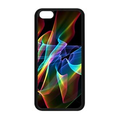 Aurora Ribbons, Abstract Rainbow Veils  Apple Iphone 5c Seamless Case (black) by DianeClancy