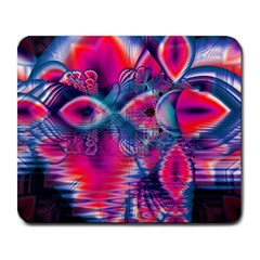 Cosmic Heart Of Fire, Abstract Crystal Palace Large Mouse Pad (rectangle) by DianeClancy