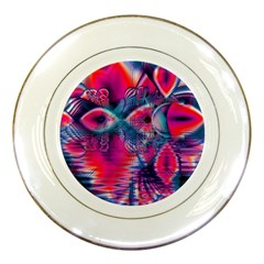 Cosmic Heart Of Fire, Abstract Crystal Palace Porcelain Display Plate by DianeClancy
