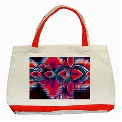 Cosmic Heart Of Fire, Abstract Crystal Palace Classic Tote Bag (red) by DianeClancy