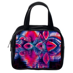 Cosmic Heart Of Fire, Abstract Crystal Palace Classic Handbag (one Side) by DianeClancy