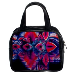 Cosmic Heart Of Fire, Abstract Crystal Palace Classic Handbag (two Sides) by DianeClancy