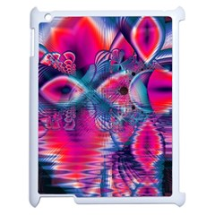 Cosmic Heart Of Fire, Abstract Crystal Palace Apple Ipad 2 Case (white)