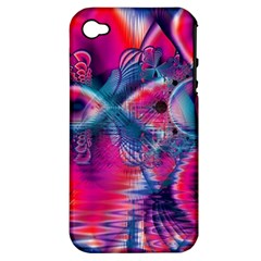 Cosmic Heart Of Fire, Abstract Crystal Palace Apple Iphone 4/4s Hardshell Case (pc+silicone) by DianeClancy