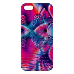 Cosmic Heart Of Fire, Abstract Crystal Palace Apple Iphone 5 Premium Hardshell Case by DianeClancy