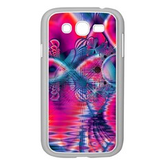 Cosmic Heart Of Fire, Abstract Crystal Palace Samsung Galaxy Grand Duos I9082 Case (white) by DianeClancy