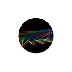 Flowing Fabric Of Rainbow Light, Abstract  Golf Ball Marker 4 Pack by DianeClancy