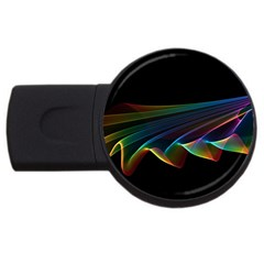 Flowing Fabric Of Rainbow Light, Abstract  2gb Usb Flash Drive (round)