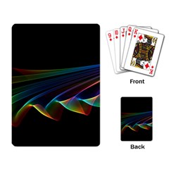 Flowing Fabric Of Rainbow Light, Abstract  Playing Cards Single Design by DianeClancy