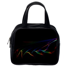 Flowing Fabric Of Rainbow Light, Abstract  Classic Handbag (one Side) by DianeClancy