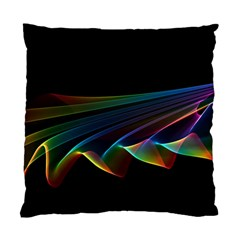 Flowing Fabric Of Rainbow Light, Abstract  Cushion Case (two Sided)