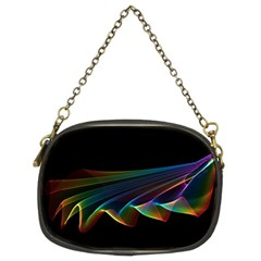 Flowing Fabric Of Rainbow Light, Abstract  Chain Purse (two Sided)  by DianeClancy