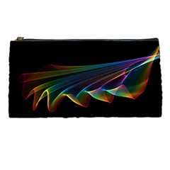Flowing Fabric Of Rainbow Light, Abstract  Pencil Case by DianeClancy