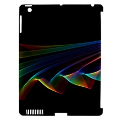 Flowing Fabric Of Rainbow Light, Abstract  Apple Ipad 3/4 Hardshell Case (compatible With Smart Cover)