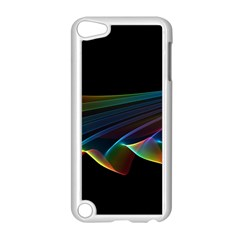Flowing Fabric Of Rainbow Light, Abstract  Apple Ipod Touch 5 Case (white) by DianeClancy