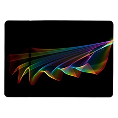 Flowing Fabric Of Rainbow Light, Abstract  Samsung Galaxy Tab 10 1  P7500 Flip Case by DianeClancy