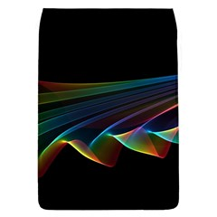 Flowing Fabric Of Rainbow Light, Abstract  Removable Flap Cover (large) by DianeClancy