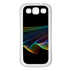 Flowing Fabric Of Rainbow Light, Abstract  Samsung Galaxy S3 Back Case (white) by DianeClancy
