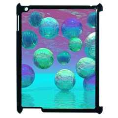 Ocean Dreams, Abstract Aqua Violet Ocean Fantasy Apple Ipad 2 Case (black) by DianeClancy