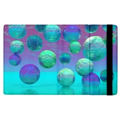 Ocean Dreams, Abstract Aqua Violet Ocean Fantasy Apple Ipad 2 Flip Case by DianeClancy