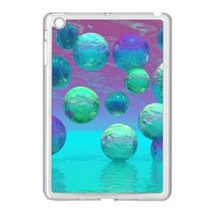 Ocean Dreams, Abstract Aqua Violet Ocean Fantasy Apple Ipad Mini Case (white) by DianeClancy