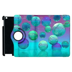 Ocean Dreams, Abstract Aqua Violet Ocean Fantasy Apple Ipad 2 Flip 360 Case by DianeClancy