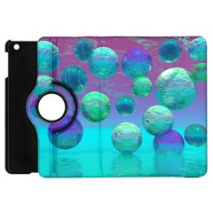 Ocean Dreams, Abstract Aqua Violet Ocean Fantasy Apple Ipad Mini Flip 360 Case by DianeClancy