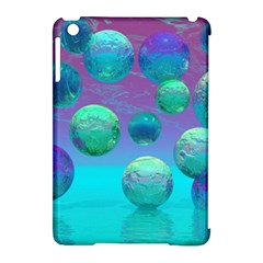 Ocean Dreams, Abstract Aqua Violet Ocean Fantasy Apple Ipad Mini Hardshell Case (compatible With Smart Cover) by DianeClancy