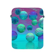 Ocean Dreams, Abstract Aqua Violet Ocean Fantasy Apple Ipad Protective Sleeve by DianeClancy