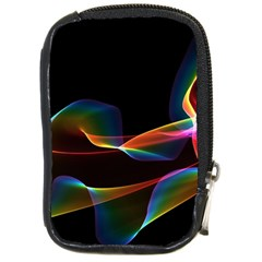 Fluted Cosmic Rafluted Cosmic Rainbow, Abstract Winds Compact Camera Leather Case by DianeClancy