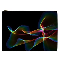 Fluted Cosmic Rafluted Cosmic Rainbow, Abstract Winds Cosmetic Bag (xxl)