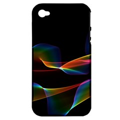 Fluted Cosmic Rafluted Cosmic Rainbow, Abstract Winds Apple Iphone 4/4s Hardshell Case (pc+silicone) by DianeClancy